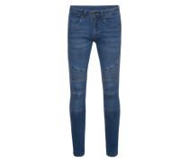 Jeans 'Slim Fit Biker' blue denim