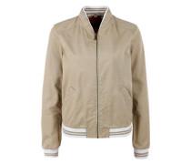 College-Jacke aus Baumwolle ecru