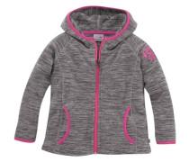 Fleecejacke in Melange-Optik für Mädchen grau / pink