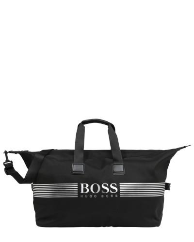 Reisetasche 'Pixel' schwarz / silber