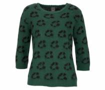 Strickpullover 'Nidu' grün / dunkelgrün