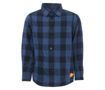 Hemd 'basic check shirt' blau / navy