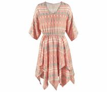 Kleid beige / türkis / orange