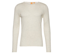 Pullover mit Rollsäumen 'Kamiro' wollweiß