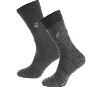Jonte 2 Paar Socken graumeliert