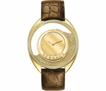 Schweizer Uhr 'Destiny Var080017' braun / goldgelb