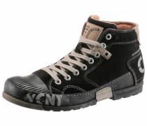 Sneaker creme / grau / schwarz