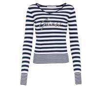 Sweater 'estella' dunkelblau / weiß
