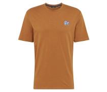 T-Shirt blau / pastellorange / weiß
