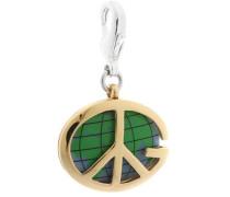 Charm 'Peace Globe Ubc90903' gold / grün