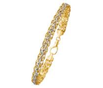 Armschmuck: Armband in Fantasiekettengliederung gold / silber