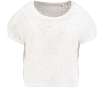T-Shirt 'palm' weiß