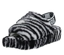 Slipper 'fluff Yeah Slide Zebra'