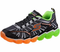 Sneaker graphit / neongrün / orange / schwarz