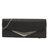 Clutch mit Metallic-Optik schwarz