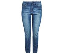 Curvy Slim: Stretchjeans mit Waschung blue denim