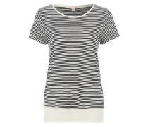 T-Shirt mit Bluseneinsatz blau
