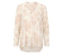 Chiffon-Bluse in High-Low-Optik pink