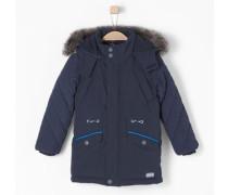 Wintermantel mit Fake Fur blau / navy