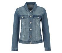 Jeansjacke 'Mainja' blue denim / rosa / bordeaux