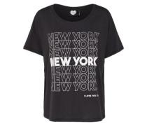 Shirt 'new York ON MY Mind' schwarz / weiß