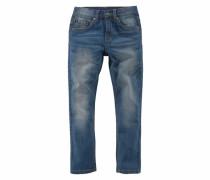 Stretchjeans Slim Regular-fit mit schmalem Bein blau
