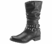 Stiefel silbergrau / schwarz