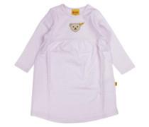 Nachthemd langärmlig rosa / weiß