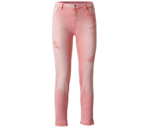 Colour-Denim mit Usedlook rosé