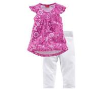 Shirt & Leggings Shirt und Leggings im Set (2-tlg.) pink / weiß