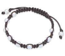 Armband braun / perlweiß