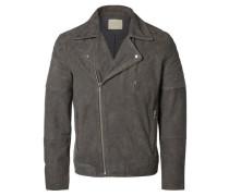Biker-Jacke grau