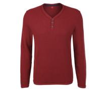 Pullover aus Strukturstrick rot