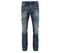 Tubc Tapered: Distressed Jeans blue denim