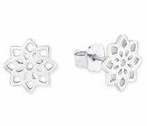 Paar Ohrstecker 'Blume' silber