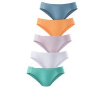 Bikinislip (5 Stck.) blau / lila / orange / weiß