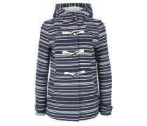 Maritime Duffle-Coat-Jacke marine / weiß