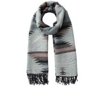 Langer Schal 'PCPanja' mit Ethno-Muster grau