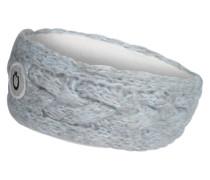 Strick-Stirnband mit Zopfmuster hellblau