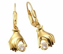 Paar Ohrhänger »Hände« gold