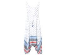 Kleid mit Allover-Print blau / rot / schwarz / weiß