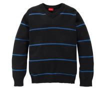 Pullover mit modischen Ringelstreifen blau / schwarz