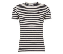 T-Shirt in Ringel-Muster schwarz / weiß