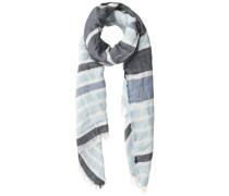 Langer gestreifter Schal hellblau / grau / weiß