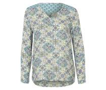 Bluse mit Paisley-Muster grün / mischfarben