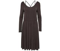 Kleid mit langen Ärmeln Drapierter schwarz