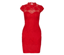 Cocktailkleid in Spitzen-Optik rot
