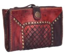 Borchie Con Fiore Geldbörse Leder 15 cm rot