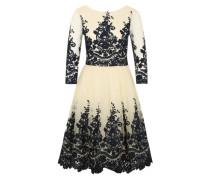 Kleid 'Mariah' creme / ultramarinblau / weiß