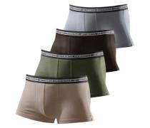 Baumwoll-Boxer Authentic Underwear (4 Stck.) hellbeige / dunkelbraun / grau / khaki
